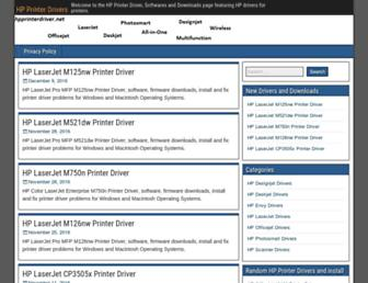 hpprinterdriver.net screenshot