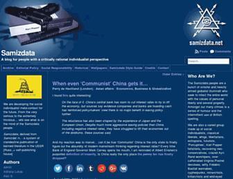 Main page screenshot of samizdata.net