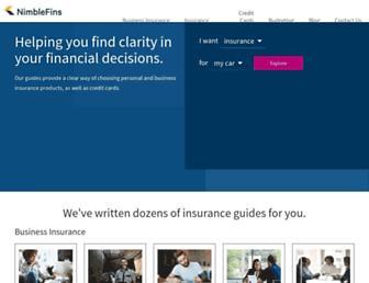 nimblefins.co.uk screenshot