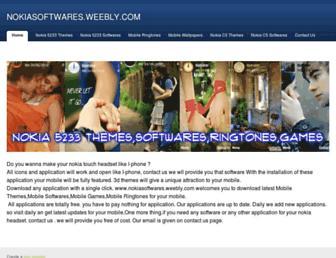 nokiasoftwares.weebly.com screenshot