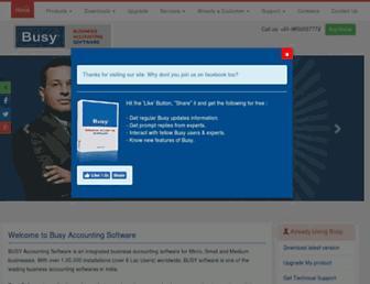 busyaccountingsoftware.in screenshot