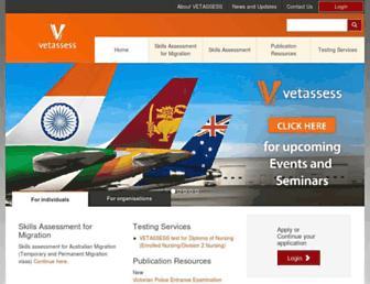 vetassess.com.au screenshot