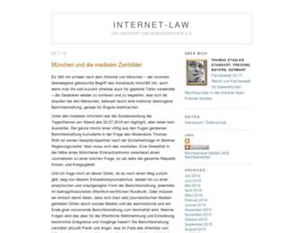Main page screenshot of internet-law.de