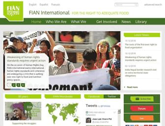 fian.org screenshot