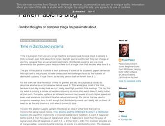 Main page screenshot of pabich.eu