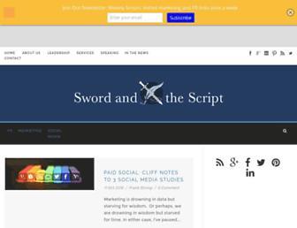 swordandthescript.com screenshot