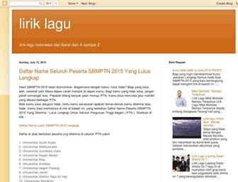 lirik-lagu-az.blogspot.com screenshot