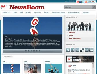 newsroom.aaa.com screenshot