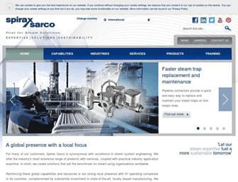 www2.spiraxsarco.com screenshot