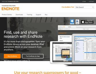 Thumbshot of Endnote.com