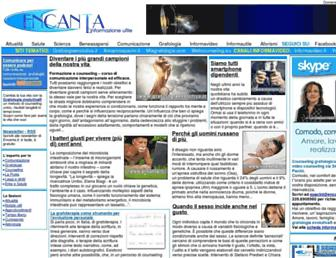 Main page screenshot of encanta.it