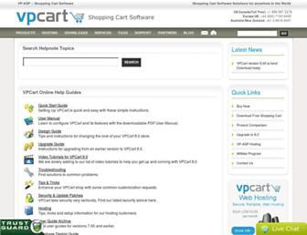 helpnotes.vpcart.com screenshot
