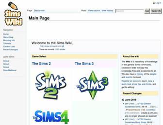 simswiki.info screenshot