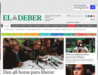 eldeber.com.bo screenshot
