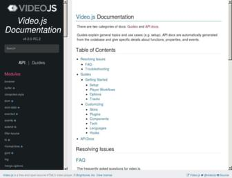 docs.videojs.com screenshot