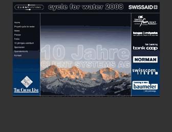 Main page screenshot of bike-travel.ch