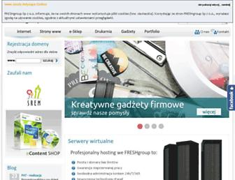 Main page screenshot of freshgroup.pl