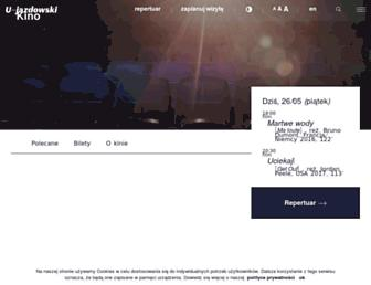 Main page screenshot of kinolab.art.pl