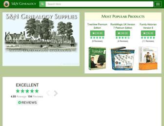 genealogysupplies.com screenshot