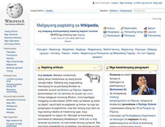 tl.wikipedia.org screenshot