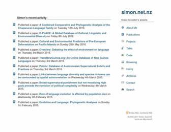 simon.net.nz screenshot