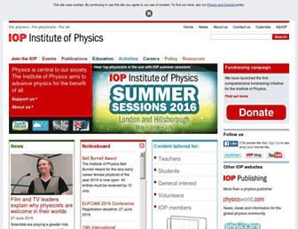 iop.org screenshot
