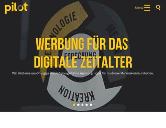 Main page screenshot of pilot.de