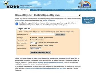 degreedays.net screenshot