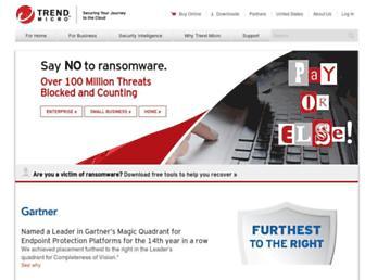 trendmicro.com screenshot