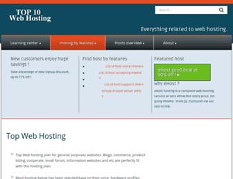 Thumbshot of Top10webhosting.com