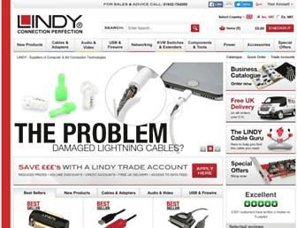 Main page screenshot of lindy.co.uk