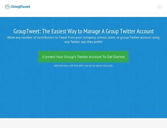 Thumbshot of Grouptweet.com