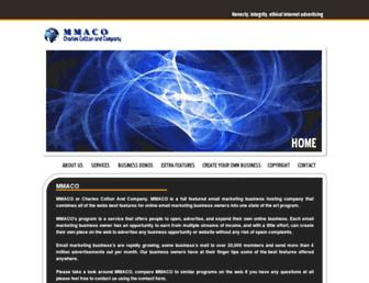 Main page screenshot of mmaco.net