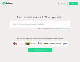 Thumbshot of Dealspotr.com