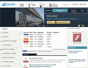 sarajevo-airport.ba screenshot