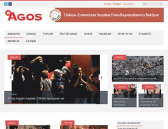 Main page screenshot of agos.com.tr