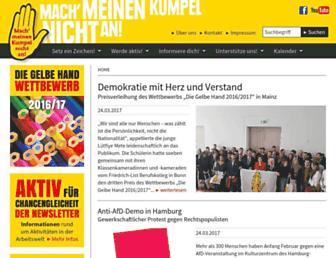 Main page screenshot of gelbehand.de