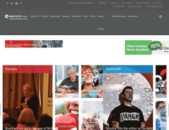 Main page screenshot of dentistry.co.uk