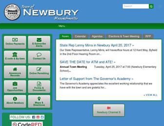 townofnewbury.org screenshot
