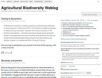 Main page screenshot of agro.biodiver.se