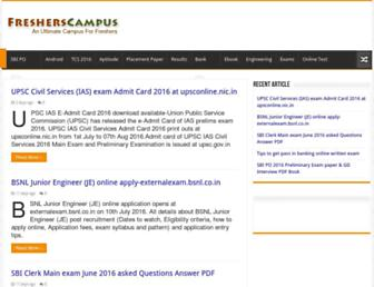 fresherscampus.com screenshot