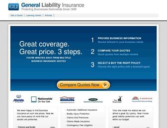 generalliabilityinsurance.org screenshot