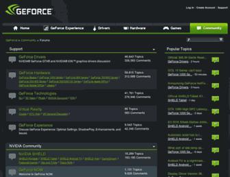 forums.geforce.com screenshot