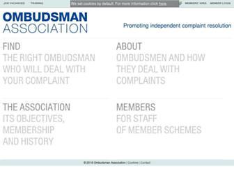 ombudsmanassociation.org screenshot