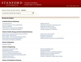 explorecourses.stanford.edu screenshot