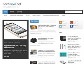 Main page screenshot of itechnews.net