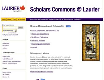 scholars.wlu.ca screenshot