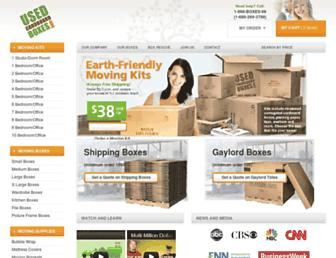 usedcardboardboxes.com screenshot
