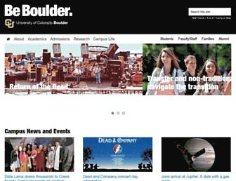 Main page screenshot of colorado.edu