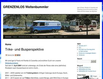Main page screenshot of grenzenlos.ath.cx